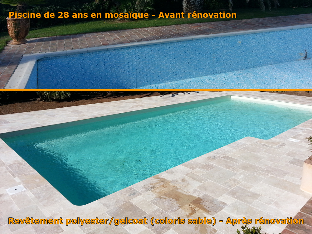 Resine polyester piscine great piscine bton revtement for Budget piscine coque
